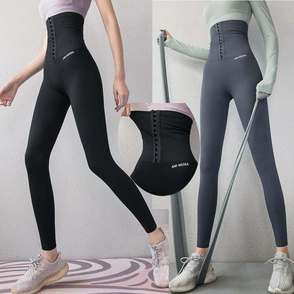 Women Stretchy high waist fitness Shapewear corset Cashmere Leggings