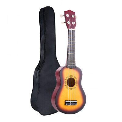 """21"""" Soprano Ukulele Apelila Acoustic Mini Guitar Music Instrument + Gig Bag"""