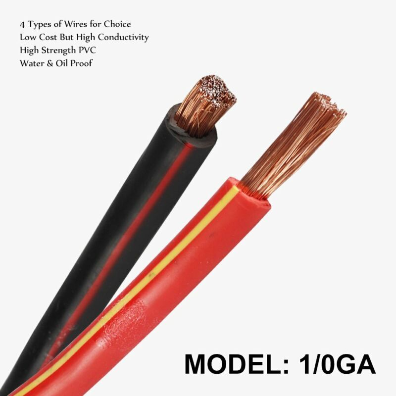 Truck Solar Battery Cable 1/0 Gauge 0GA Flexible Inverter Welding Power Wire Lot