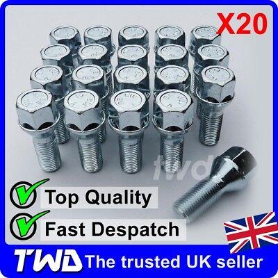 16 14x1.5mm 14x1.5 Black Alloy Steel Wheel Lug Nuts 60 Degree Tapered Bolts