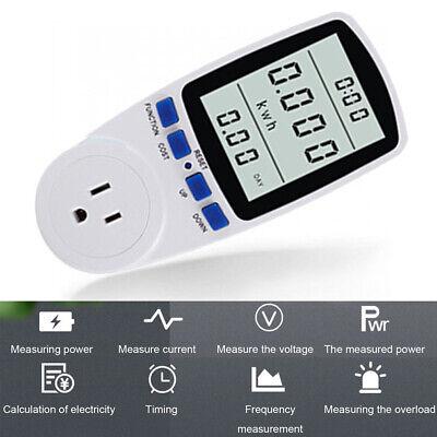 Electricity Usage Monitor Plug Power Watt Voltage Amps Meter Energy Saving B0A6