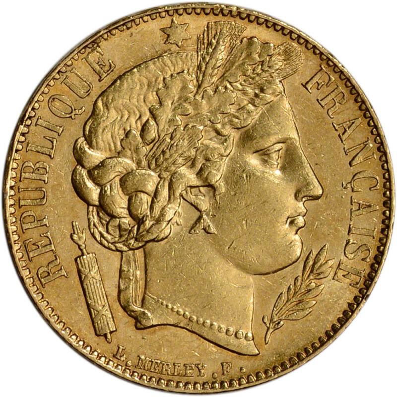 France Gold 20 Francs (.1867 Oz) - Ceres - Xf/au - Random Date