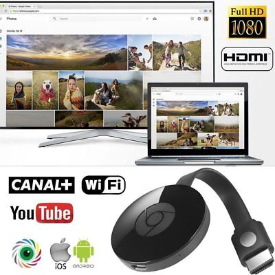 For Miracast Chromecast 2 Digital Hdmi Media Video Streamer 2Nd Generation Us