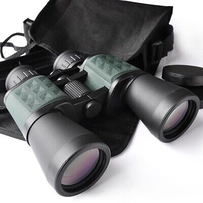 10x50 Powerful Binoculars Wide Angle Hunt Telescope Birdwatching Travel Portable