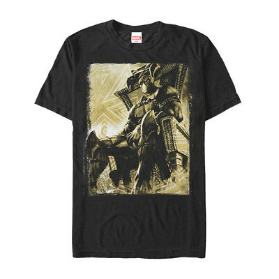 Marvel Black Panther Throne Mens Graphic T Shirt