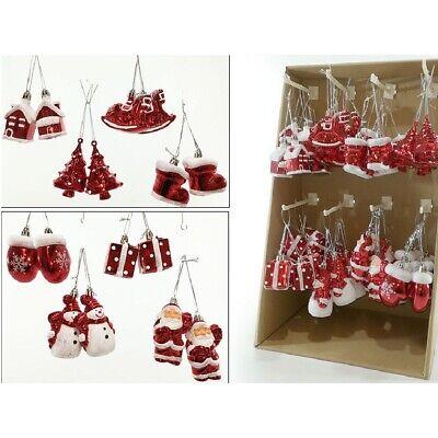 Decorazioni in rosso e bianco per l'albero di natale assortiti addobbi natalizi