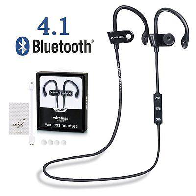 Sports Bluetooth 4.1 Wireless Headset  Earbud Earphone Headphone in Ear Hook