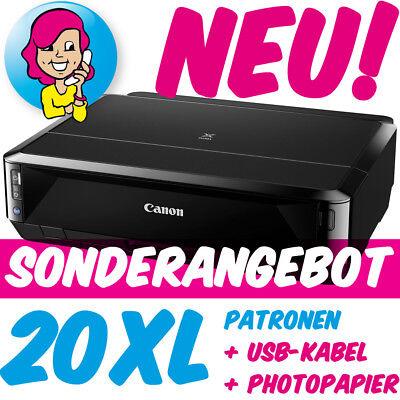 Canon PIXMA iP7250 iP 7250 im XXL-Set inkl. 20 XL-PATR0NEN U$B FOTOPAP!ER NEU!