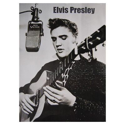 Elvis Presley Recording Studio Poster. Rock and Roll Icon 50s Music Room - Rock And Roll Room Decor