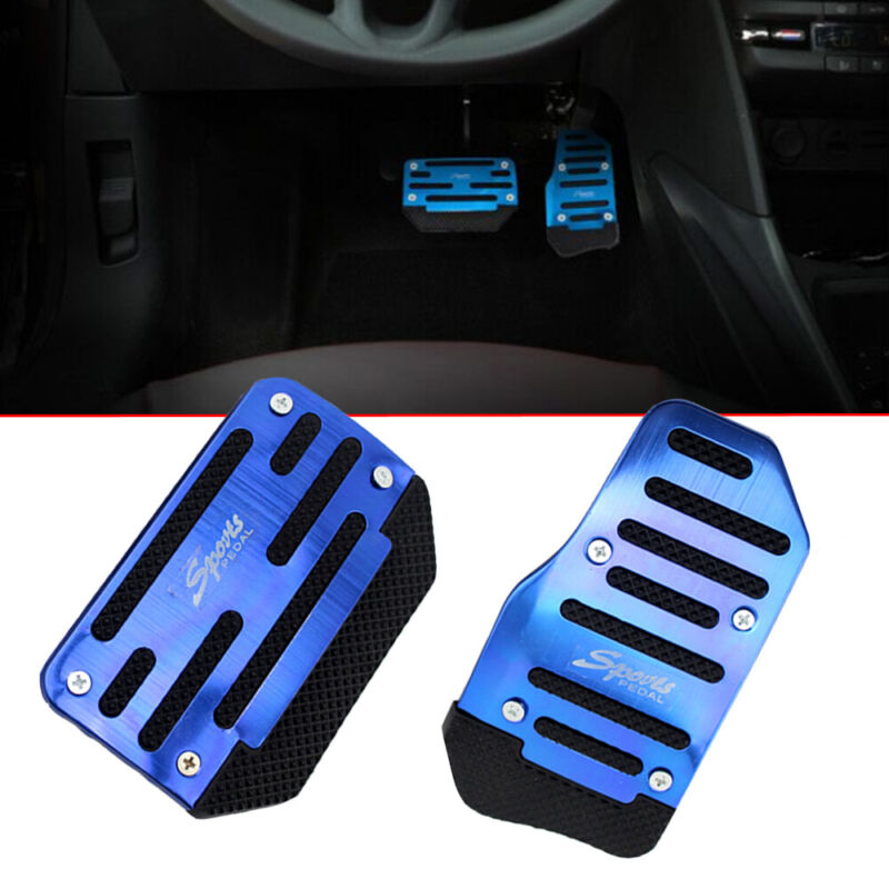 Newsmarts Brake Cover Pads Accelerator Pedals Cover Kits Compatible for Honda Civic 2015-2018 2016 2017