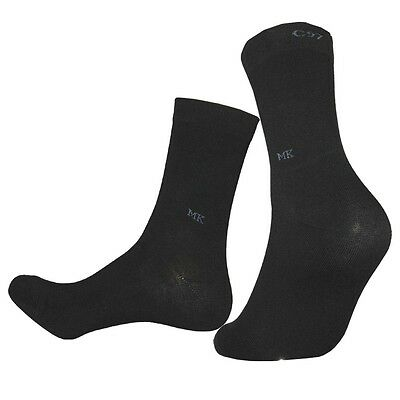 """5 Pairs Mens Solid Color Diabetic Socks MK """"Skin contact surface is 100% cotton"""""""