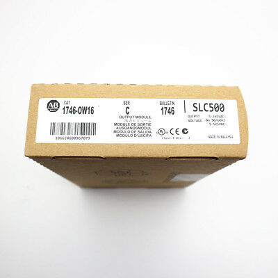 New Allen Bradley 1746-ow16 Ser C Slc 500 16 Point Relay Output 17460w16