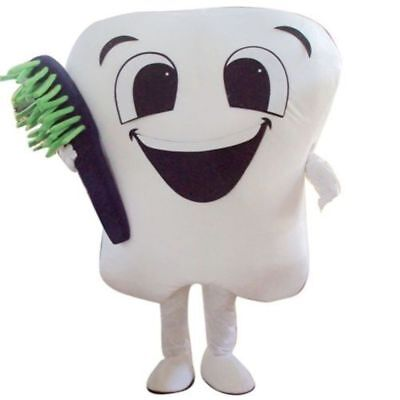 Fancytrader 2019 Tooth Mascot Costume Adult Size EPE Dentist with toothbrush](Toothbrush Costume)