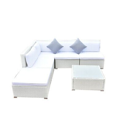 Modern Rattan Garden Corner 5 Seat Outdoor Patio Sofa Table Chair Furniture Set