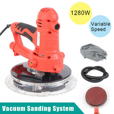 1280w Electric Handheld Drywall Sander Variable Speed With Vacuum Led Lights
