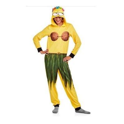 NEW Women's Hawaiian Minion One Piece Pajamas Costume Union Suit SZ S M L XL 2XL - Womens Minion Costume