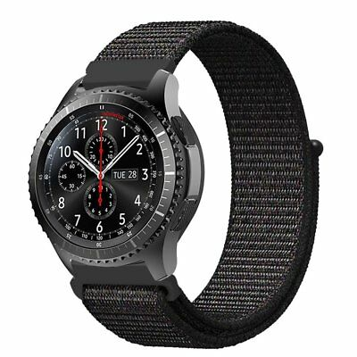 For Samsung Gear S3 Frontier   Classic Sport Loop Band 22Mm Nylon Strap Bands