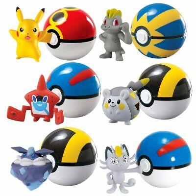 Spielfigur mit Pokeball zur Auswahl | Pokemon | Tomy | Action-Figuren (Pokemon Mit Pokeball)