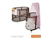 Unused Stokke Sleepi Baby Crib & Cot - Walnut - Boxed
