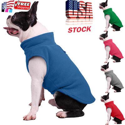 Pet Dog Fleece Harness Vest Jumper Sweater Coat for Small Medium Dogs Jacket USA Fleece Dog Coat