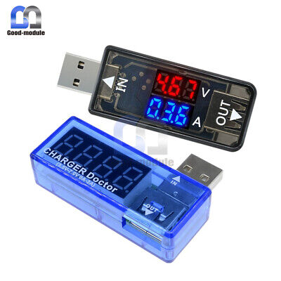 Digital Dual Led 5v Usb Detector Current Voltage Voltmeter Power Ammeter Tester