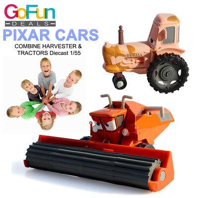 pixar cars 1:55 NEU FRANK THE COMBINE HARVESTER & Tractor 2x Spielzeugautos Neu ()