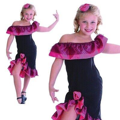 Mädchen Flamenco Tänzer Kostüm Spanisch Rumba Salsa Kinder - Tänzer Outfits Kostüme