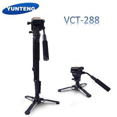 Yunteng VCT-288 Tripod Monopod+Fluid Pan Head+Holder for Can