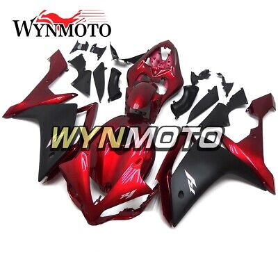 ABS Plastic Panels for YAMAHA 2007 2008 YZF1000 R1 Black and Red New Bodywork