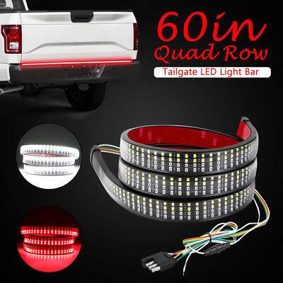 - 60inch LED Tailgate Light Strip Bar Running Brake Reverse Signle Pickup Quad Row