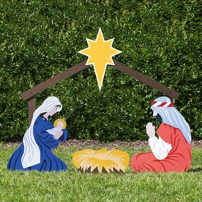 Large Outdoor Nativity Set (Outdoor Nativity Store Holy Family Outdoor Nativity Set (Large,)