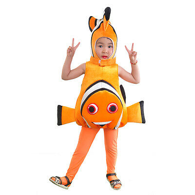 Kids Nemo Fish Costume for Toddlers Animal Mascot Cosplay Bodysuit Fancy Dress](Fish Costume For Kids)