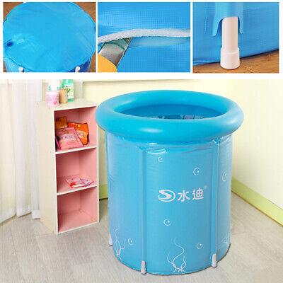 Bañera para adultos inflable plegable Bañera Barril + Almohada 80*80cm Bañera