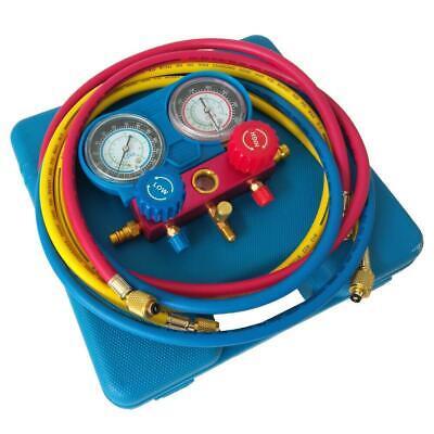 Refrigeration Kit Ac Manifold Gauge Set Air R134a Pressure Gauge