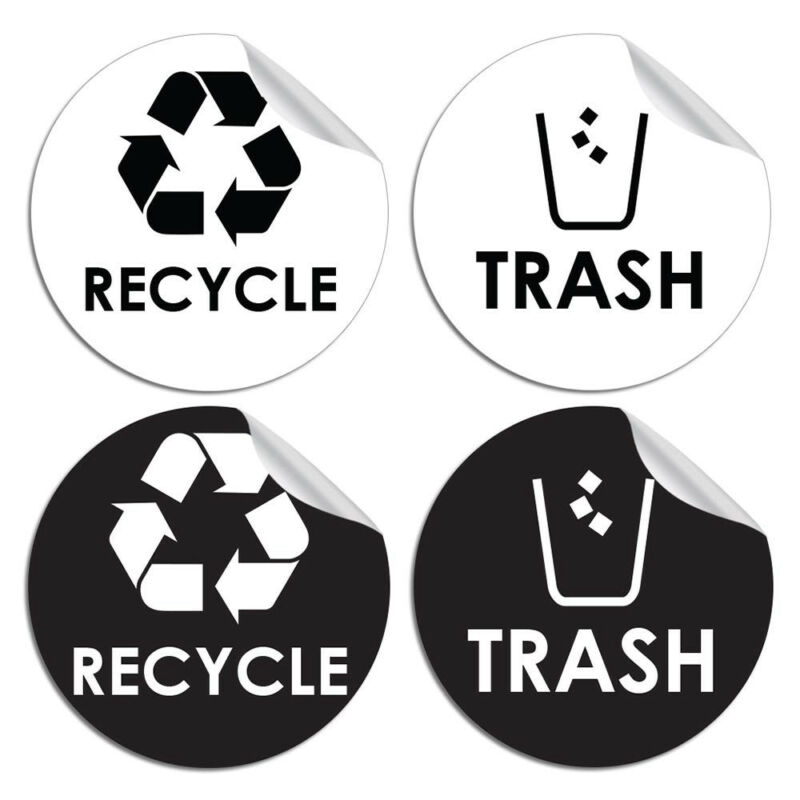 Recycle Bottles /& Cans Only Sticker D3712