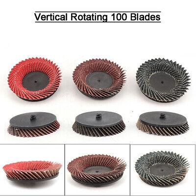 9pcs 3 Flap Sanding Disc Type R Roloc Threaded Twist Lock 80mm Grinding Wheels