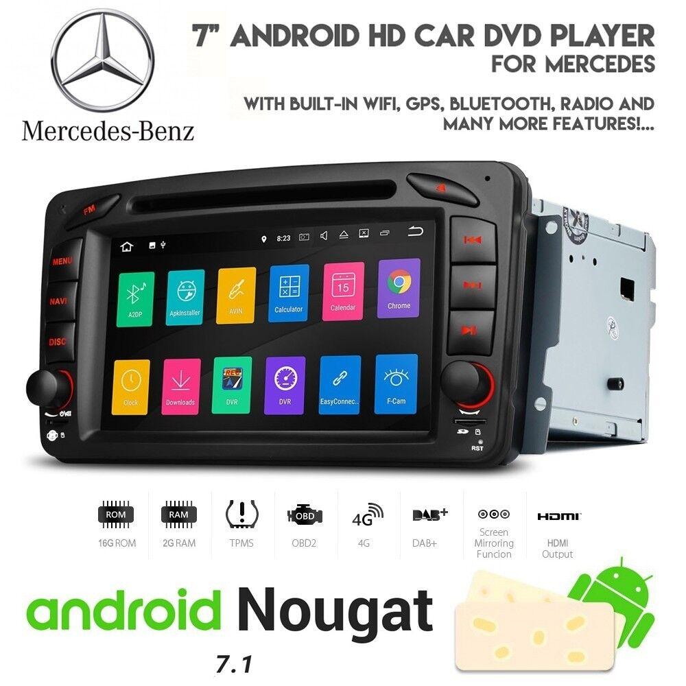 Mercedes CLK C Class Android Bluetooth CD DVD HD WiFi GPS Navigation
