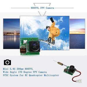 Mini 200mW 800TVL Weitwinkel 170 Grad FPV Kamera NTSC-System für QAV 250 Z4I5