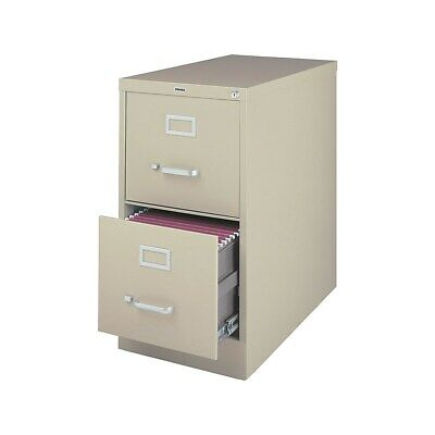 Staples 2-drawer Vertical File Cabinet Locking Letter Puttybeige 26.5d 470381