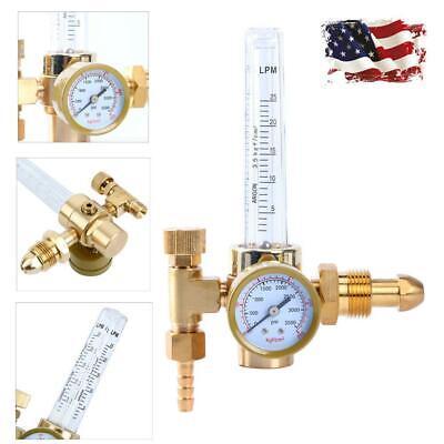 New Mig Tig Flow Meter Regulator Argon Welding Weld Regulator Gauge Gas Welder