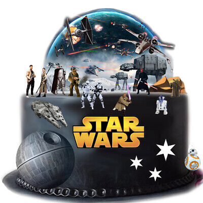 STAR WARS Scene Edible Thick Wafer Paper Cake Toppers