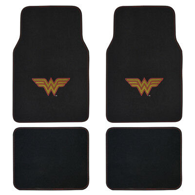 Wonder Woman Superhero Carpet Floor Mats for Car Auto SUV Van - - Wonder Woman Vans