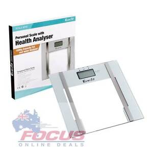 Electronic Digital Body Fat&Hydration Bathroom Glass Weight Scale Melbourne CBD Melbourne City Preview