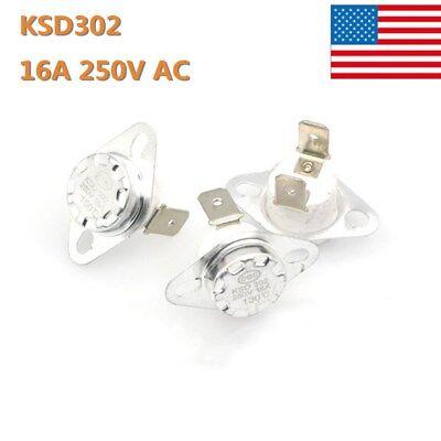 5x 16a 250v Temperature Switch Control Sensor Thermal Thermostat 40-180c Ksd302