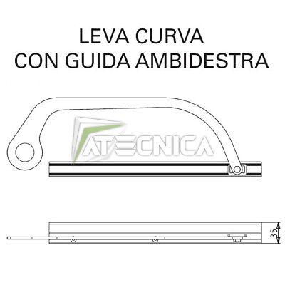 Palanca Curva Ambidiestro Con Skate Y Guía 43400/055 Para aprimatic Buenos Días