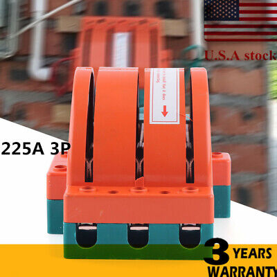 3 Pole Circuit Breaker 225a Disconnect Knife Switch Double Throw Safety Breaker