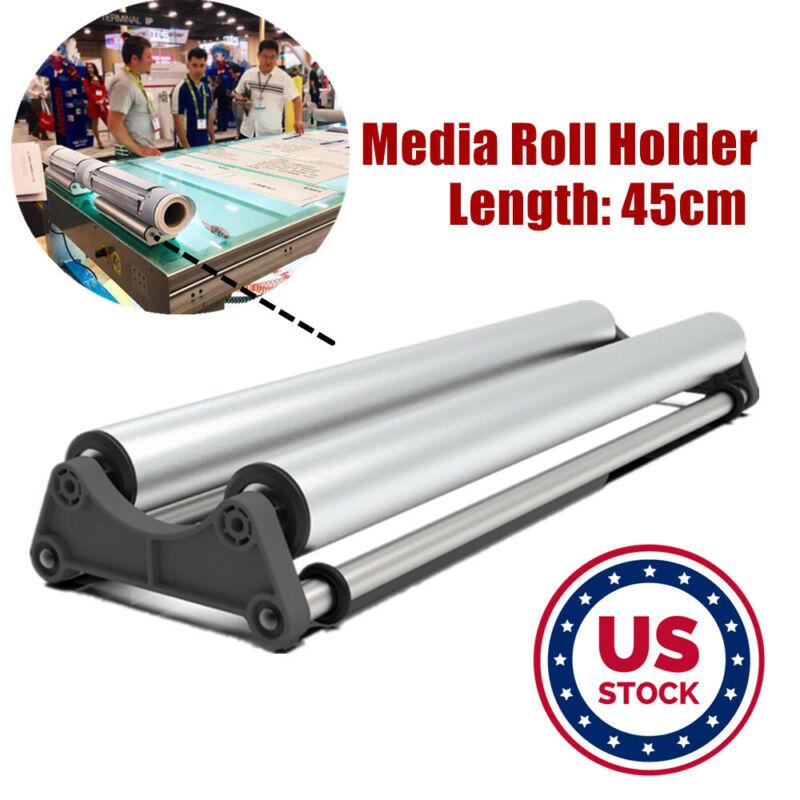 USA Stock Media Roll Holder Mobile Tray for Roll Printing Vinyl Film Advertising