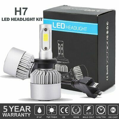 H7 LED Headlight Bulbs for Yamaha YZF-R6 2003-2015 YZF-R1 07-2014 Super (Yamaha Yzf R1 Led)