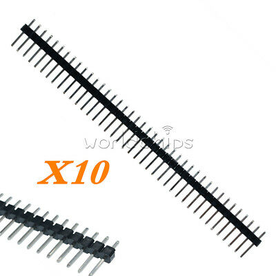 10pcs 40pin 2.54mm Single Row Straight Male Pin Header Strip For Pbc Ardunio