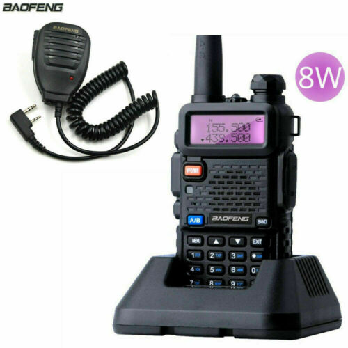 BaoFeng UV-5R Real 8W Dual Band VHF/UHF FM Walkie Talkie Radio uv-5r Speaker MIC